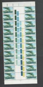 Australian Stamps Mint 1979 35c Denman Gutter Block 20 Sheet # Murray River MUH