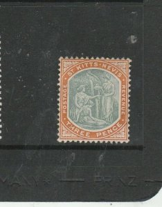 St Kitts Nevis 1905/18 MCCA 3d MM SG 18/a