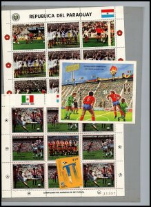 World Cup Soccer Championships MNH Paraguay vs Mexico  & Mongolia s/s Greece