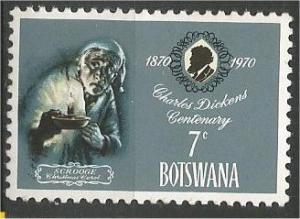 BOTSWANA, 1970, MNH 7c, Charles Dickens Scott 63