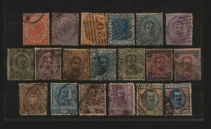 Italy - (19) Better Used from 1863 - 1926 /mixed cond cv ~$740  /  Lot 0719301