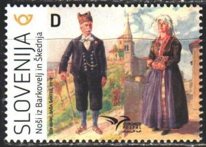 Slovenia. 2019. 1377. Slovenian folk costumes. MNH.