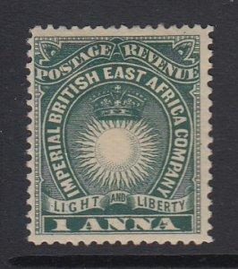 BRITISH EAST AFRICA, Scott 15a, MHR
