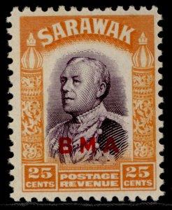 SARAWAK GVI SG137, 25c violet & orange, NH MINT.