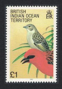 BIOT Madagascar Red Fody Bird 1v £1 SG#101