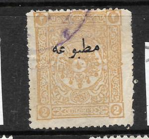 TURKEY 1893-98   2pi   NEWSPAPER   FU   Sc P33