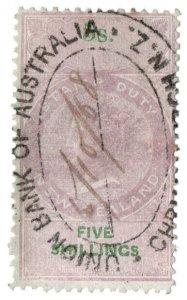 (I.B) New Zealand Revenue : Stamp Duty 5/- (1867)