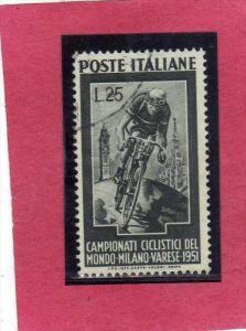ITALIA REPUBBLICA ITALY REPUBLIC 1951 CICLISMO CAMPIONATI CICLISTICI DEL MOND...