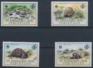 Seychelles 1987 #131-4 MNH. Turtles, WWF