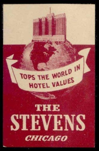 The Stevens - Chicago Hotel Advertising Poster Stamp