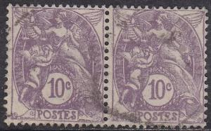 France 115 Hinged Used 1929 Liberty and Peace Pair 10c