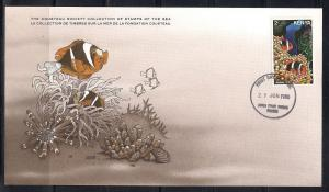 Kenya FDC card Sc 172 Cousteau Society Clown Fish L53