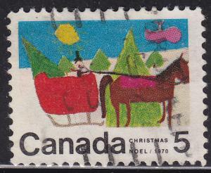 Canada 520 USED - 1970 Horse Drawn Sleigh