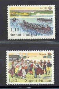 Finland Sc 655-6 1981 Europa stamp set mint NH