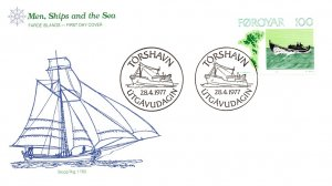 Faroe Islands, Worldwide First Day Cover, Ships