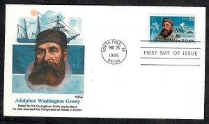 2221 Polar Explorer Unaddressed Fleetwood FDC