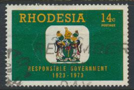 Rhodesia   SG 487   SC# 327  Used  Responsible Government 1973 see details