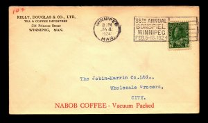 Canada 1924 Kelly Douglas Tea & Coffee Corner Card Cover - L12231