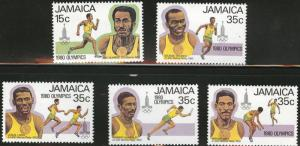 JAMAICA Scott 488-9a-d 1980 Olympic set MH*