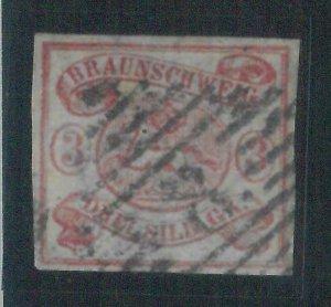 78066 - GERMANY Braunschweig  - STAMP: Michel  #  12a  Fine  USED