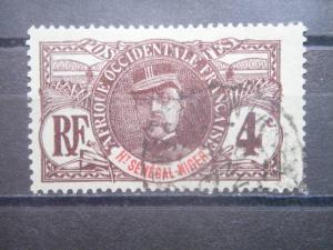 UPPER SENEGAL AND NIGER, 1906, used 4c, Scott 3