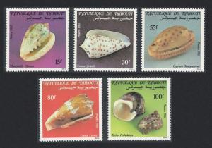 Djibouti Shells 5v issue 1983 SG#893-897