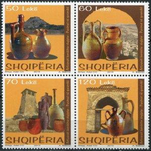 Albania 2015. Ceramic vessels (MNH OG) Block of 4 stamps