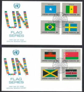 UNITED NATIONS NY 1983 Flag Series, Part 4 FDC