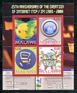 Malawi 2008 M/S 25th An Internet Computer Communication Sciences Stamps MNH Perf