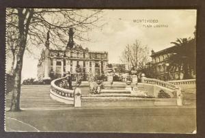 1923 Montevideo Uruguay Trenton New Jersey Plaza Libertad RPPC Postcard Cover