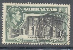 Gibraltar Sc 114b 1/ G VI & Southport Gate perf 14 stamp ...