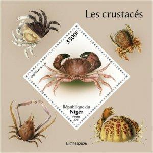 Niger 2021 MNH Marine Animals Stamps Crabs Crustaceans 1v S/S