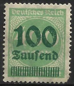 Germany 1923 Scott# 254 MH (corner)