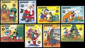 Grenada 1406-1413, MNH, Disney Christmas 1986