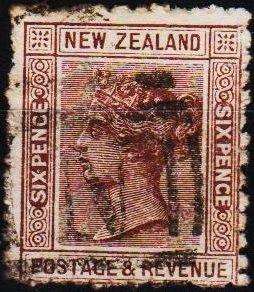 New Zealand. 1882 6d S.G.224b  Fine Used