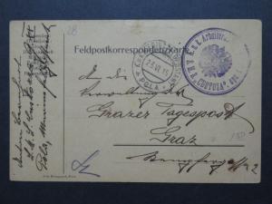 Austria 1915 Naval Card / SMS Custoza - Z10013