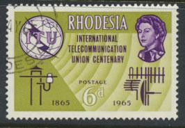 Rhodesia   SG 351  SC# 200    Used  ITU Centenary  see details