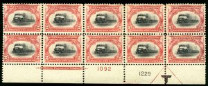 MALACK 295 VF/XF OG LH, PLATE BLOCK of 10 with ARROW..MORE.. pb2319
