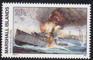 Marshall Isl. # 300, Battle of Java Sea, NH