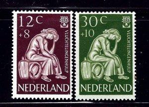 Netherlands B341-42 MH 1960 World Refugee Year   #2