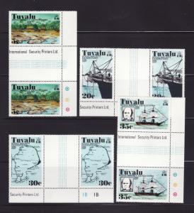 Tuvalu 54-57 Gutter Pairs Set MNH Various (C)