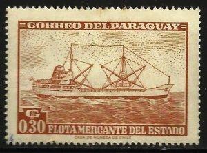 Paraguay 1962 Scott# 692 MH (gum disturbance)