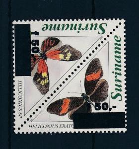 [SU903] Suriname Surinam 1996 Butterflies Black overprint Triangles MNH