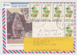 lithuania air mail stamps cover    ref r16072
