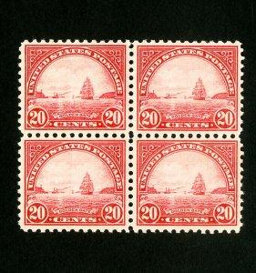 US Stamps # 698 Superb Block 4 OG NH