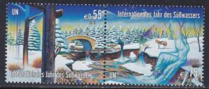 United Nations - Vienna # 334a, Int'l Year of Fresh Water, NH, 1/2 Cat.