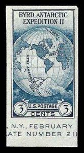 PCBstamps      US # 735a S.S. sgl. 3c Byrd Antarctic, MNH, (17)