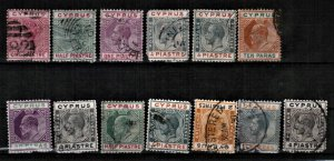 CYPRUS EARLY VICTORIA - GEORGE V - USED - SMALL COLLECTION OF STAMPS
