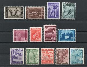 Romania - Sc# B69 - B81 MH / Sports - Lot 0419056