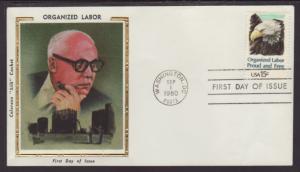 US 1831 Organized Labor 1980 Colorano U/A FDC